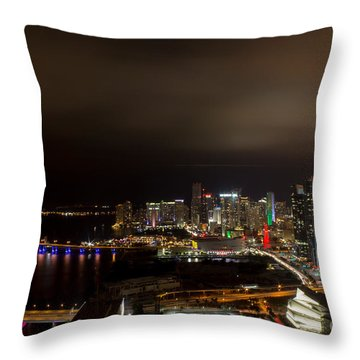 Miami After Dark Throw Pillow by Rene Triay Photography