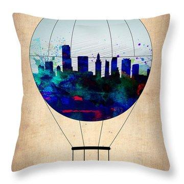 Miami Air Balloon Throw Pillow
