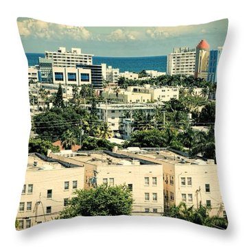 Miami Beach-0156 Throw Pillow