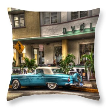 Miami Beach Art Deco 1 Throw Pillow by Timothy Lowry