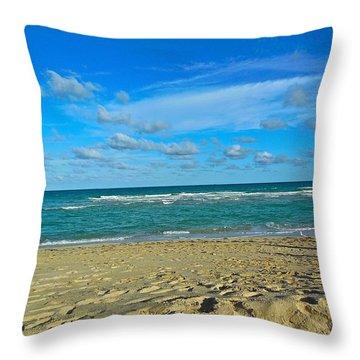 Miami Beach Throw Pillow by Joan Reese