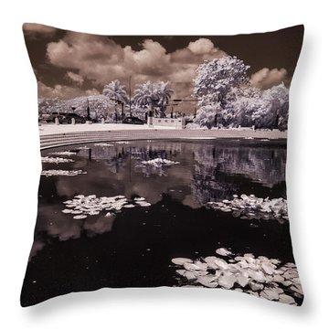 Miami Beach Lake Throw Pillow
