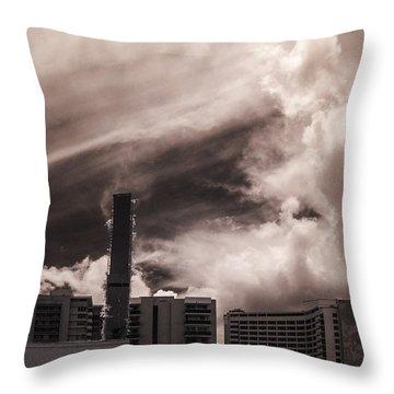 Miami Beach Sky Throw Pillow