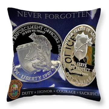 Miami Dade Police Memorial Throw Pillow by Gary Yost