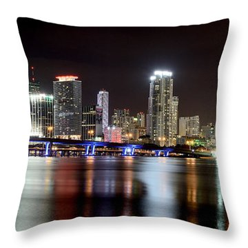 Miami - Florida  Throw Pillow