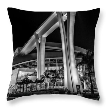 Miami Marlins Park Stadium Throw Pillow