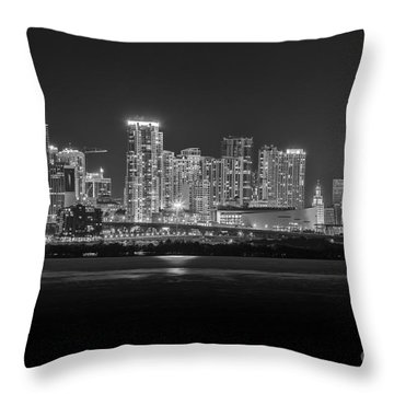 Miami On A Clear Summer Night Throw Pillow