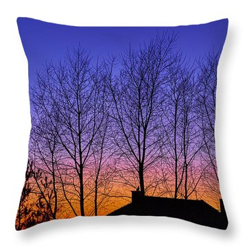 Miami Sky Throw Pillow