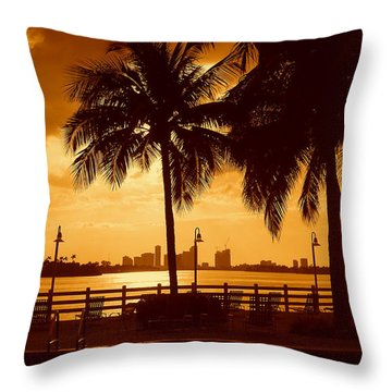 Miami South Beach Romance II Throw Pillow