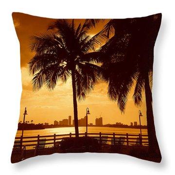 Miami South Beach Romance II Throw Pillow