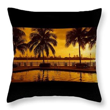 Miami South Beach Romance Throw Pillow