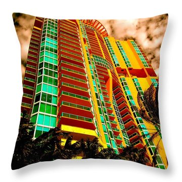 Miami South Pointe II Highrise Throw Pillow