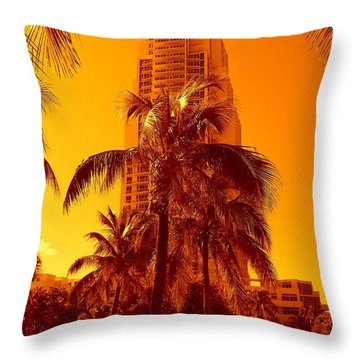 Miami South Pointe Iv Throw Pillow