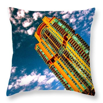 Miami South Pointe Highrise Throw Pillow