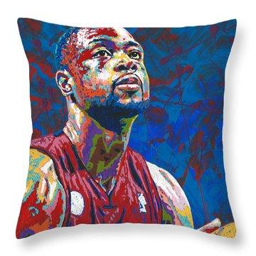 Miami Wade Throw Pillow by Maria Arango
