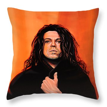 Michael Hutchence Painting Throw Pillow