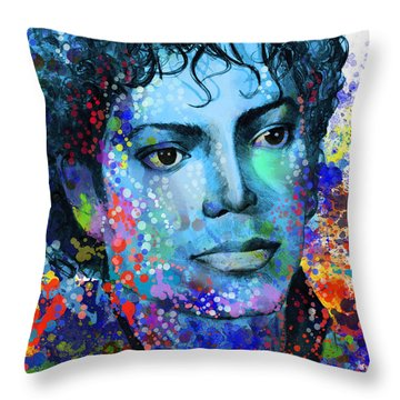 Michael Jackson 14 Throw Pillow by Bekim Art