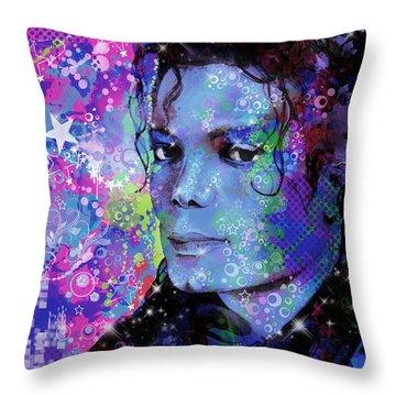 Michael Jackson 17 Throw Pillow by Bekim Art