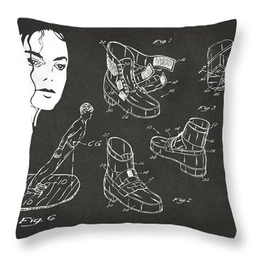 Michael Jackson Anti-gravity Shoe Patent Artwork Vintage Throw Pillow by Nikki Marie Smith