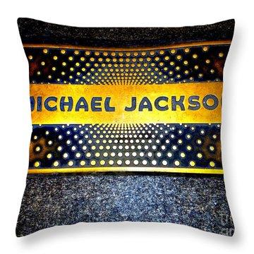 Michael Jackson Apollo Walk Of Fame Throw Pillow by Ed Weidman