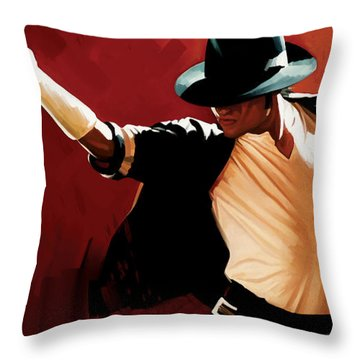 Michael Jackson Artwork 4 Throw Pillow by Sheraz A
