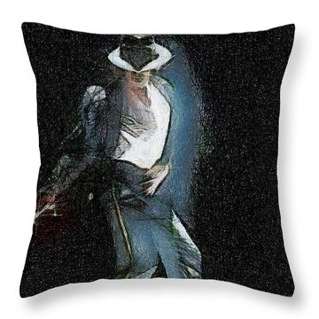 Michael Jackson Throw Pillow by Georgi Dimitrov