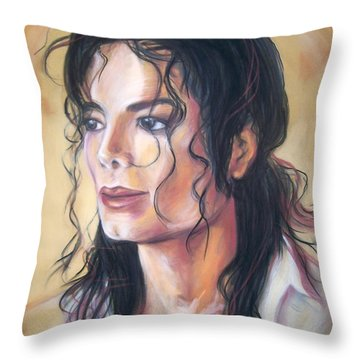 Michael Jackson Throw Pillow by Martha Suhocke
