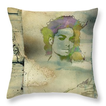 Michael Jackson Silhouette Throw Pillow by Paulette B Wright