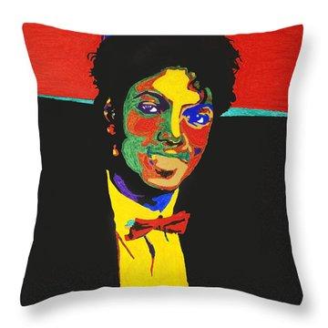 Michael Jackson Throw Pillow by Stormm Bradshaw