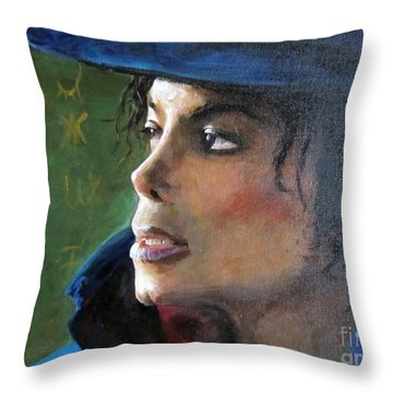Michael Joseph Jackson Throw Pillow