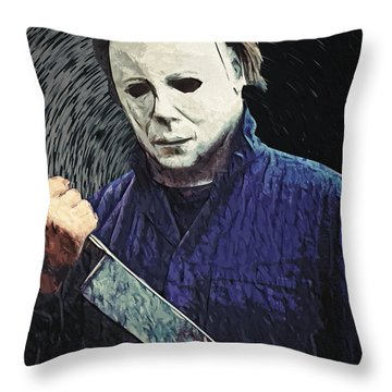 Michael Myers  Throw Pillow by Taylan Apukovska