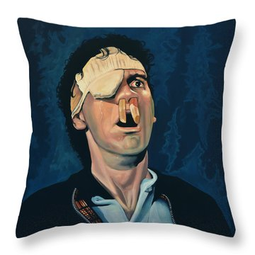 Michael Palin Throw Pillow by Paul Meijering