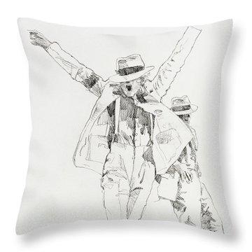 Michael Smooth Criminal Throw Pillow