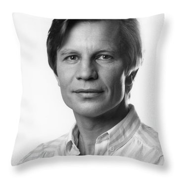 Throw Pillow featuring the photograph Michael York by Mark Greenberg