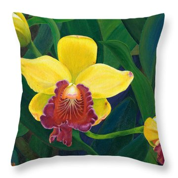 Michaela's Yellow Budda Throw Pillow