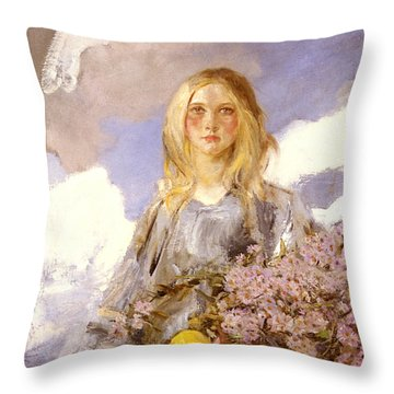 Michaelmas Throw Pillow by James Shannon