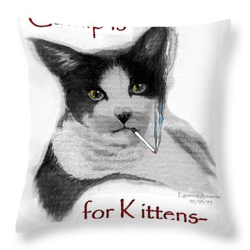 Michael's Smoking Cat Throw Pillow