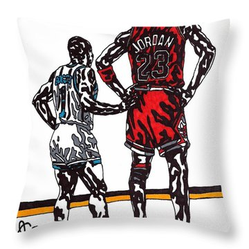 Micheal Jordan 1 Throw Pillow by Jeremiah Colley
