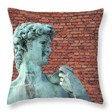 Michelangelos David Throw Pillow
