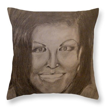 Michelle Obama Throw Pillow by Irving Starr
