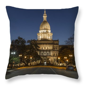 Michigan capitol art fine art america michigan capitol throw pillows malvernweather Images