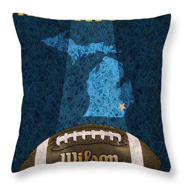 Michigan Football Poster Throw Pillow