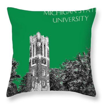 Michigan State University - Forest Green Throw Pillow
