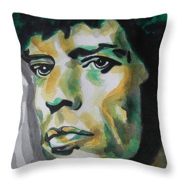 Mick Jagger Throw Pillow by Chrisann Ellis