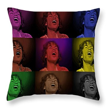 Mick Jagger Pop Art Print Throw Pillow