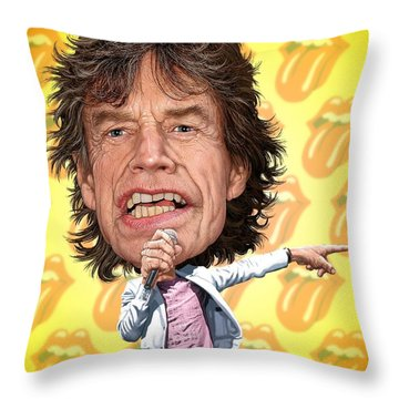 Mick Jagger Throw Pillow