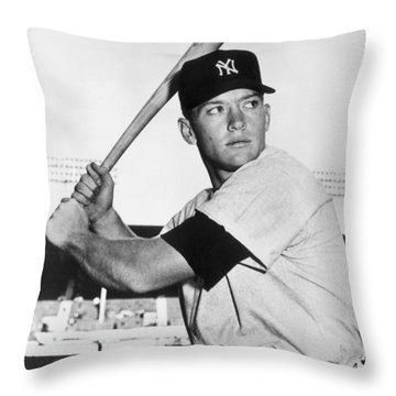 Mickey Mantle Throw Pillows