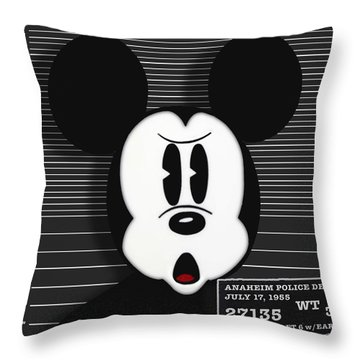 Mickey Mouse Disney Mug Shot Throw Pillow