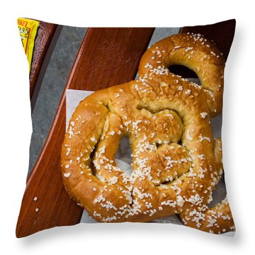 Mickey Mouse Shaped Pretzel Throw Pillow