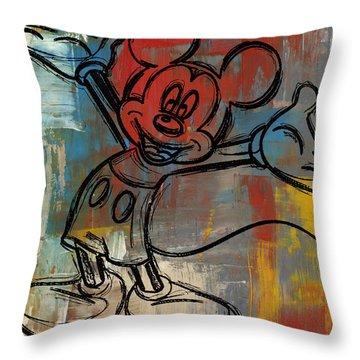 Mickey Mouse Sketchy Hello Throw Pillow